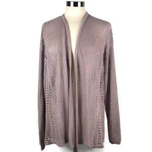 Lane Bryant Lilac Open Knit Cardigan Sweater 18/20